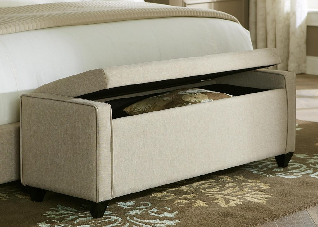 Bedroom Upholstered Stools Bedroom Bench Seat In Front Of Bed