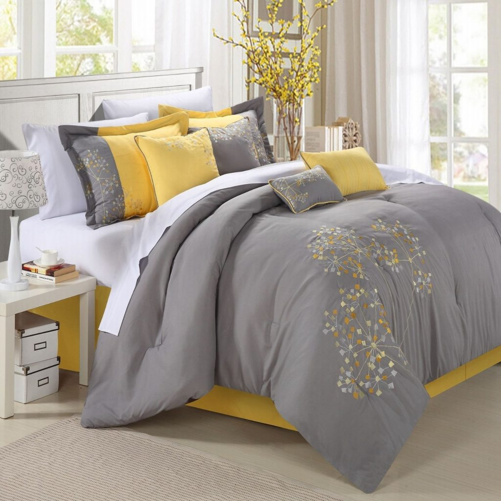 Bedroom Yellow And Grey Bedroom Curtains Gray Ideas Decorating