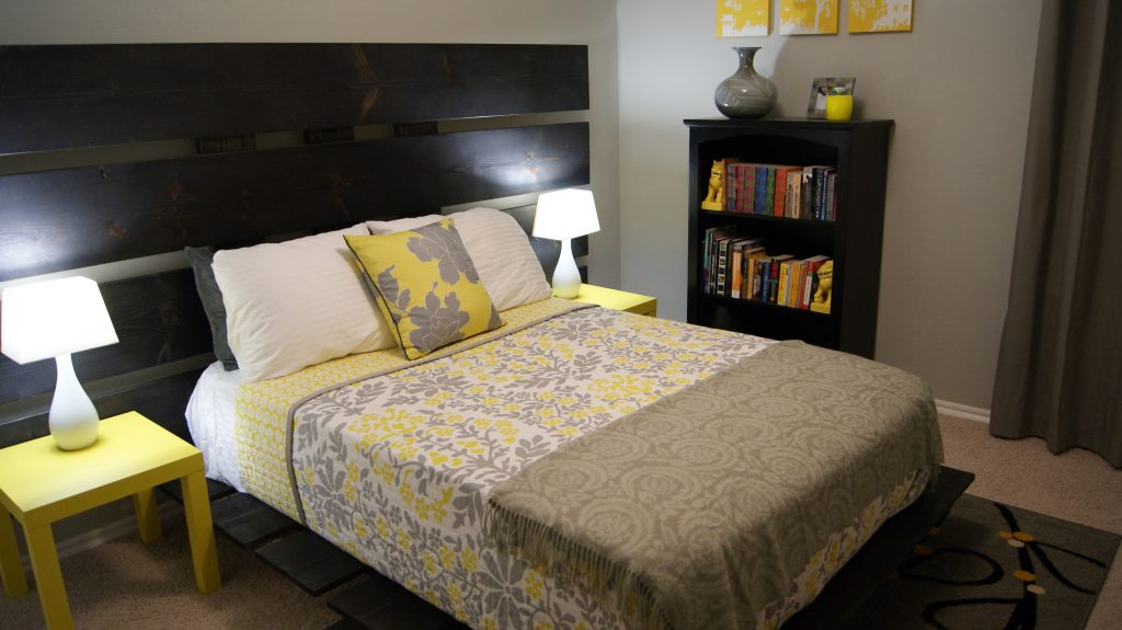 Bedroom Yellow And Grey Bedroom Decor Interesting Design Ideas