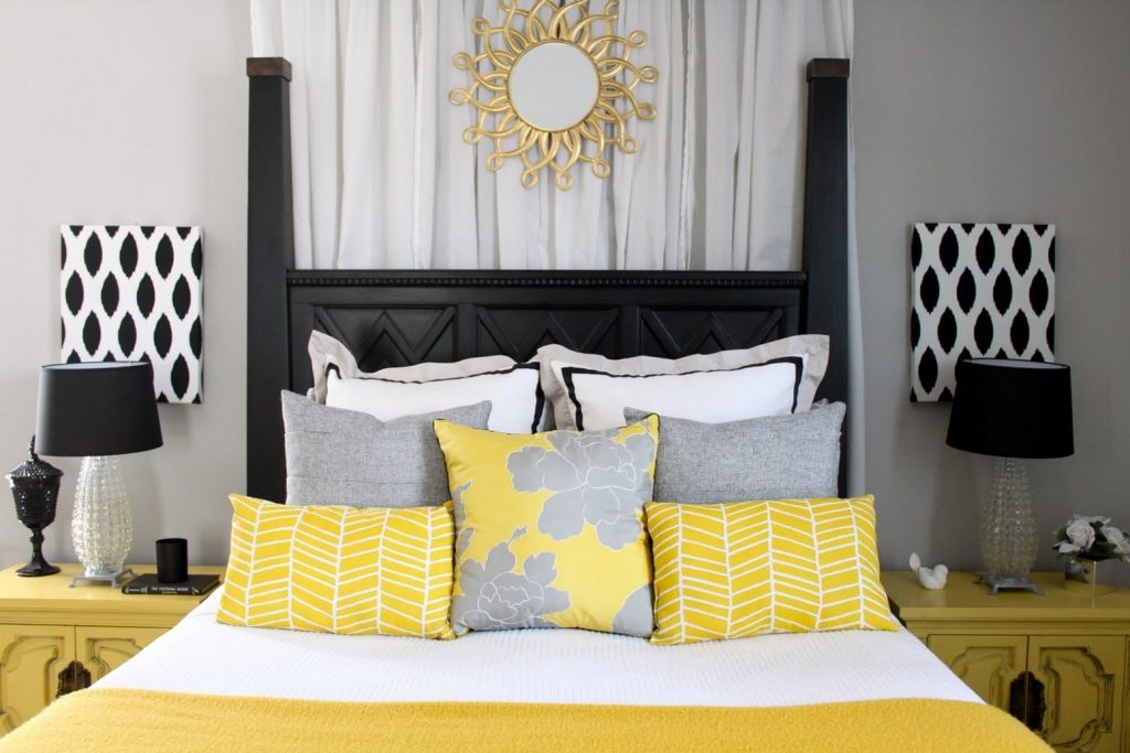 Bedroom Yellow And Grey Bedroom Decor Nurani Org Ba Shower