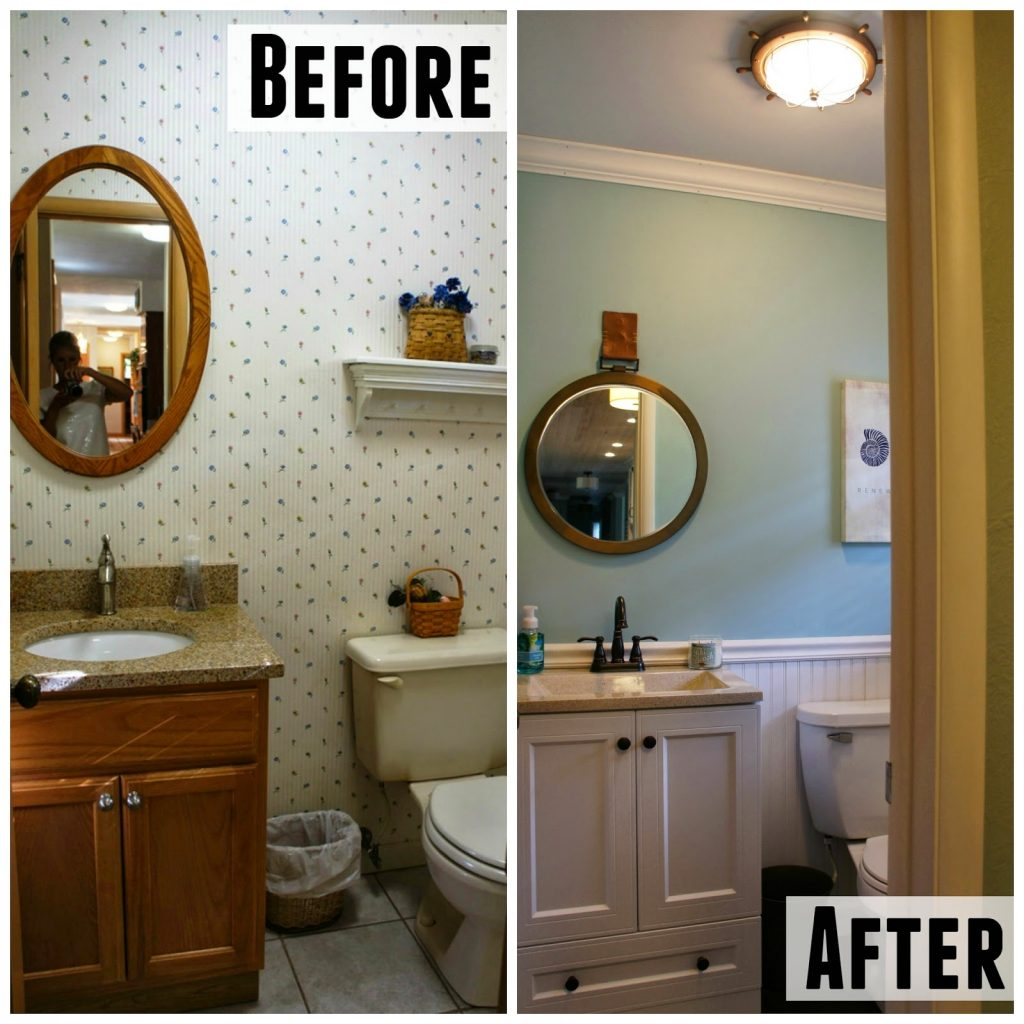 Before And After Half Bath Living In Yellow
