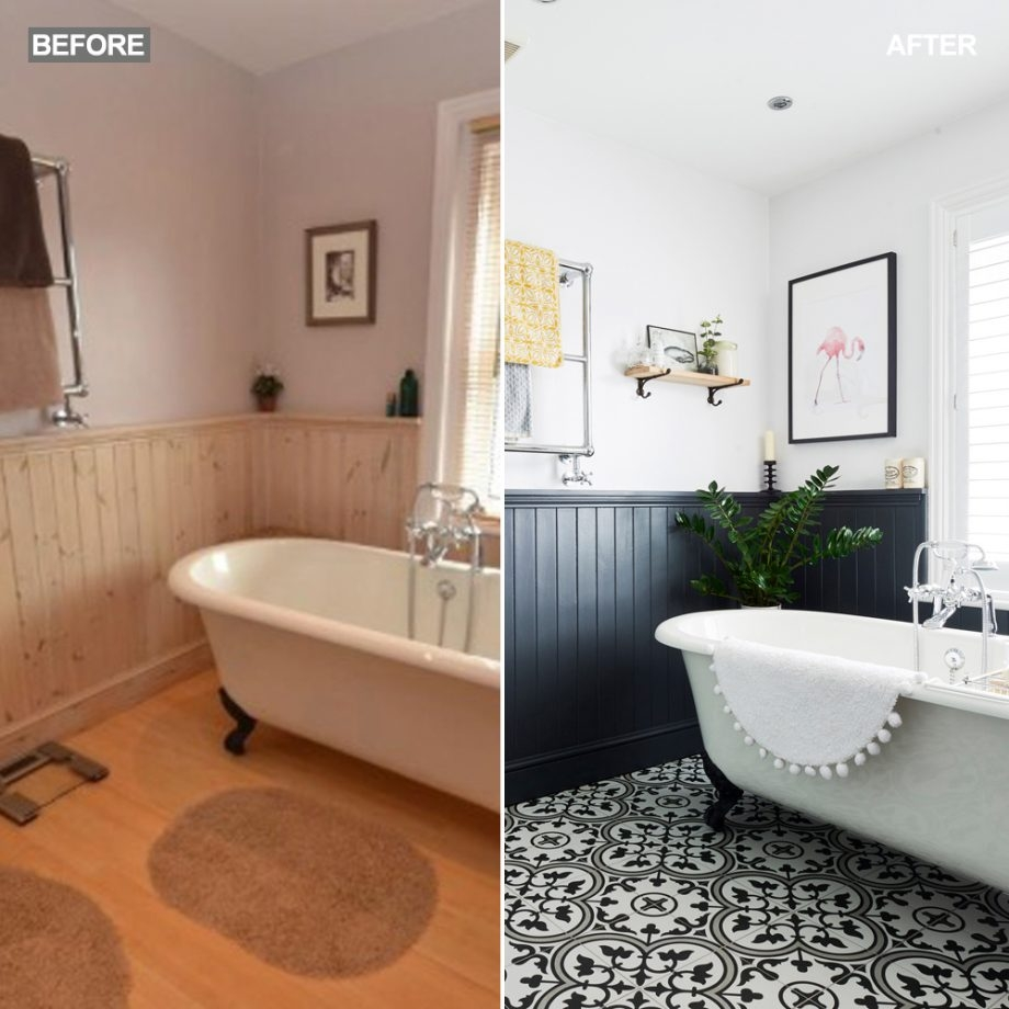Before And After This Bathroom Went From Dated To Statement Ideal