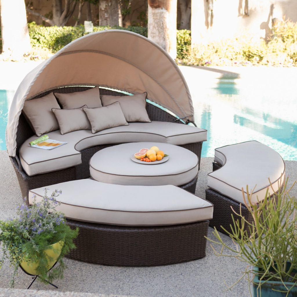 Belham Living Rendezvous All Weather Wicker Sectional Daybed Hayneedle