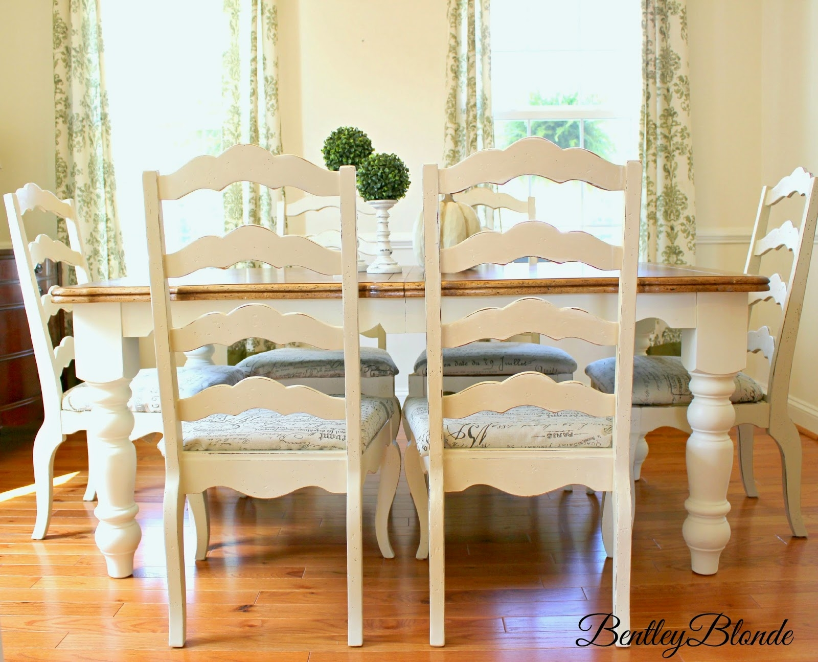 Bentleyblonde Diy Farmhouse Table Dining Set Makeover With Annie Layjao