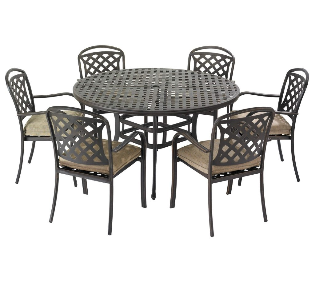 Berkeley 6 Seater Garden Furniture Set Bronze Free Cushions Within 6