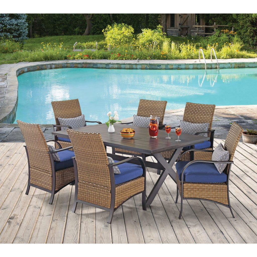 Berkley Jensen Vineyard 7 Pc Wicker Dining Set Bjs Wholesale