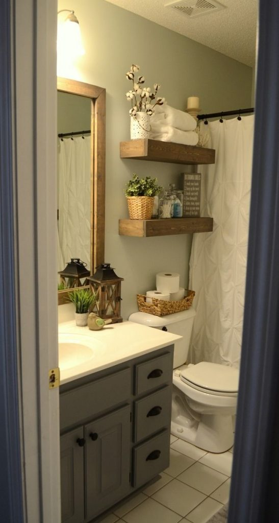 Best 25 Small Bathroom Makeovers Ideas On A Budget Pinterest