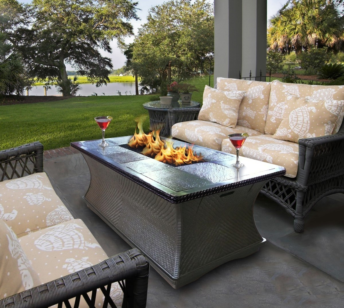 Best Of Rattan Garden Furniture With Fire Pit