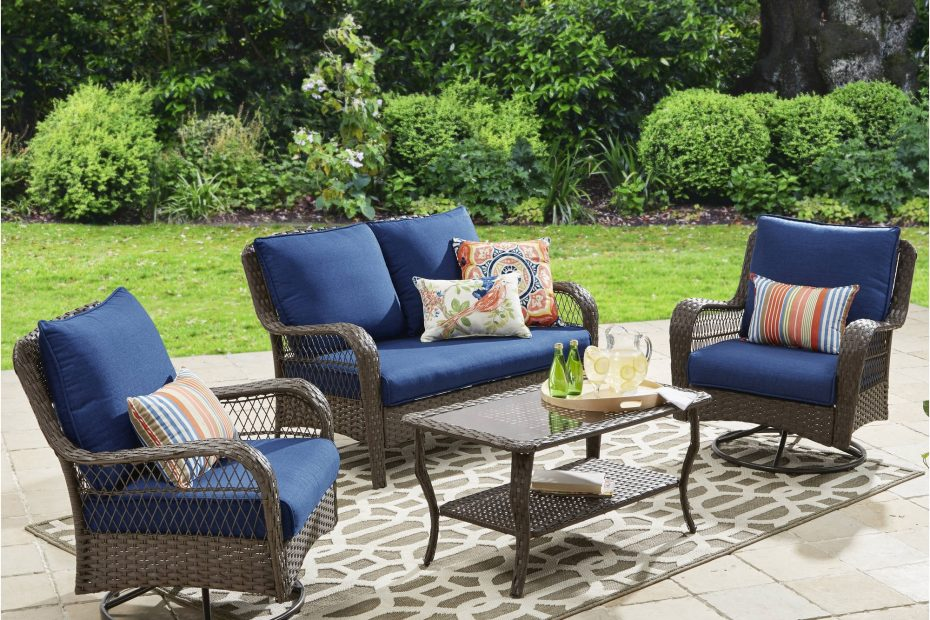 Better Homes And Gardens Colebrook 4 Piece Outdoor Conversation Set