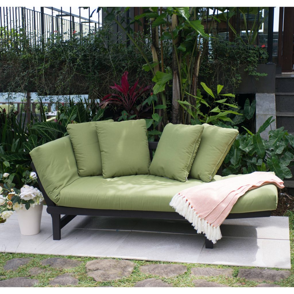 Better Homes And Gardens Delahey Studio Day Sofa With Cushions Green