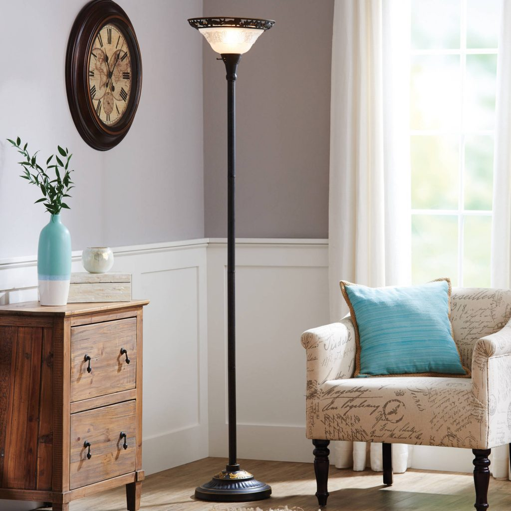 Better Homes Gardens 70 Victorian Floor Lamp With Etched Glass