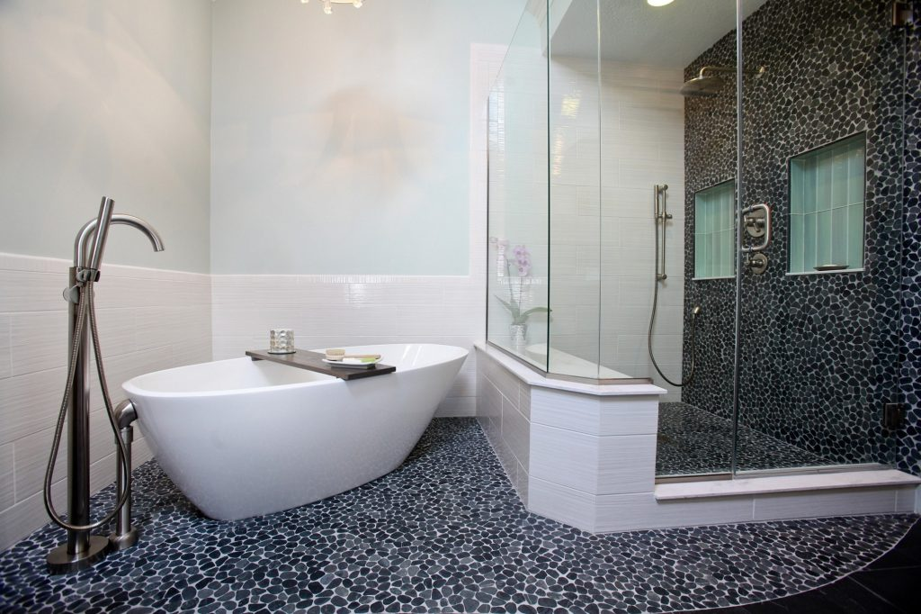 Black And White Bathroom Wall Tile Designs Pictures