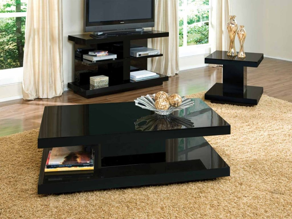 Black Coffee Table Sets Creative Thelightlaughed