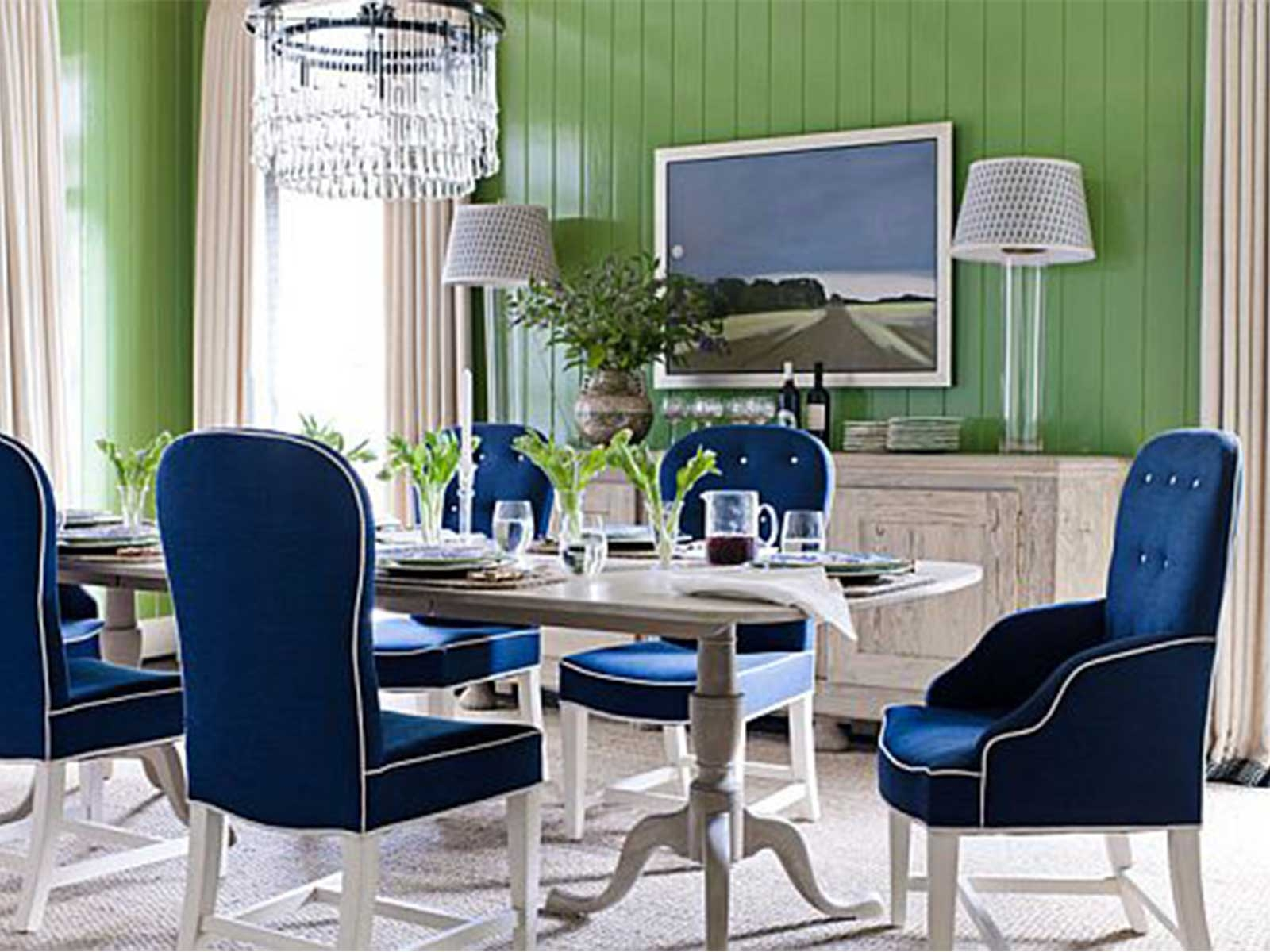 Blue Upholstered Dining Chair Rawfoodphotos Layjao