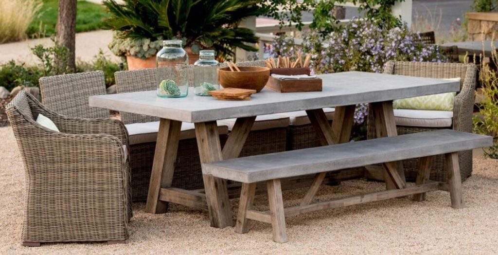 Bordeaux Concrete Top Table Outdoor Furniture Terra Patio