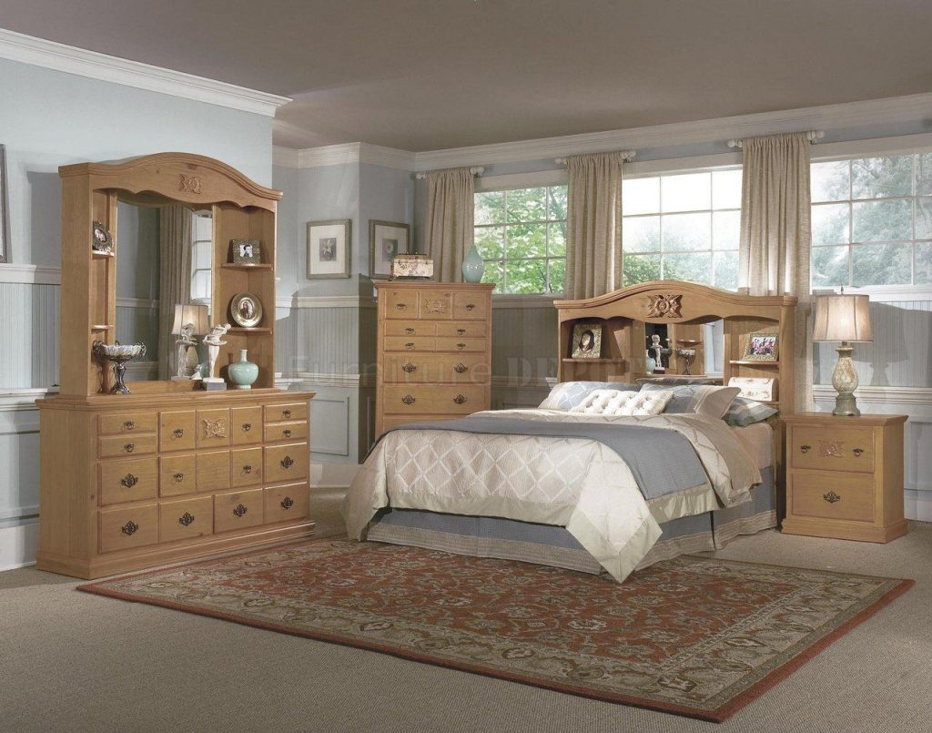 Breakthrough Light Wood Bedroom Set Cherry Furniture Trellischicago