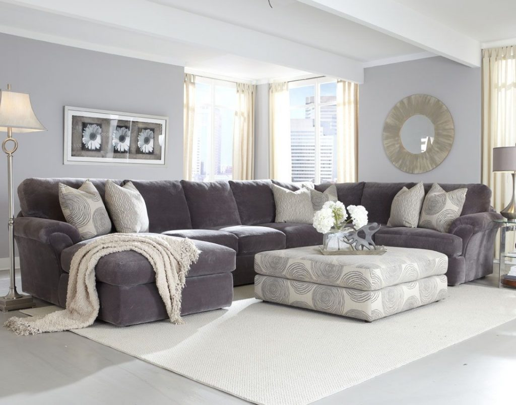 Brilliant Decorating Living Room With Sectional Sofa Intended For