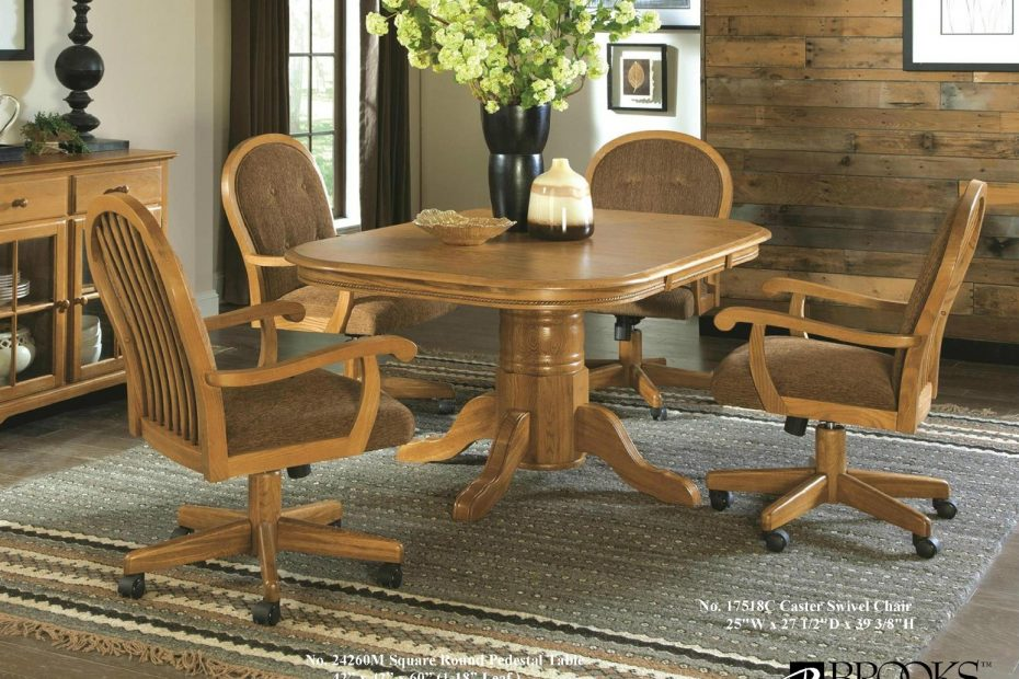 Brooks Table And 4 Caster Chairs 179900 Boyd Furniture