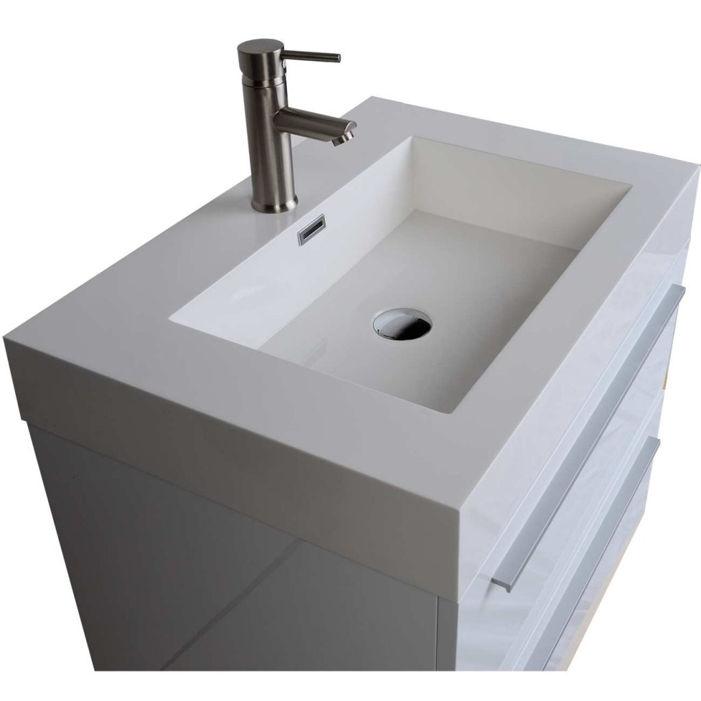 Buy 2675 In Single Bathroom Vanity Set In High Gloss White Tn T690