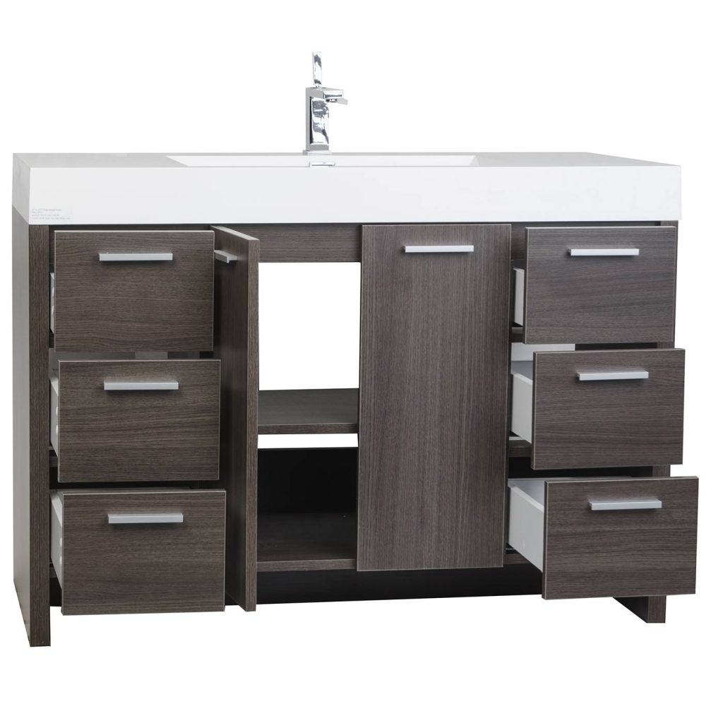 Buy 4725 Inch Modern Bathroom Vanity Grey Oak Finish Tn Ly1200 Go