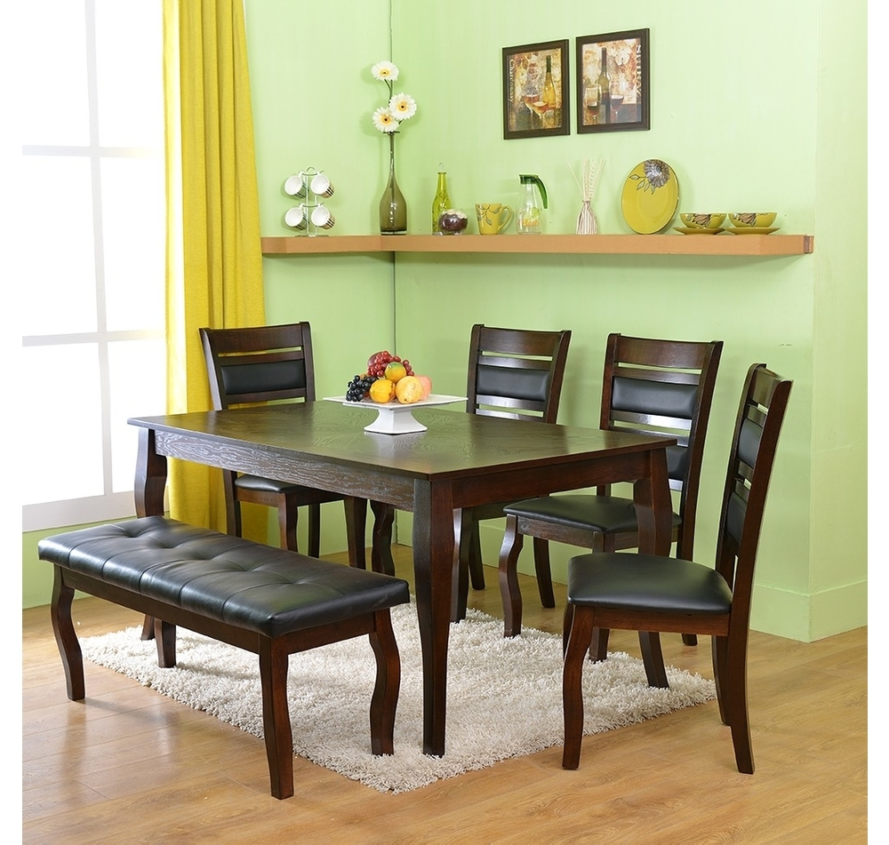 Buy Larissa 1 4 Bench Dining Kit Home Nilkamal Coffee Online