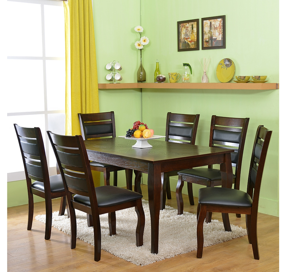 Buy Larissa 6 Seater Dining Kit Home Nilkamal Cappuccino Online