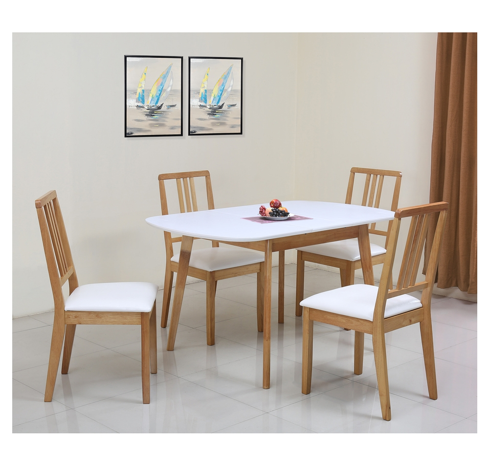 Buy Mainland 4 Seater Dining Set Home Nilkamal Light Oak