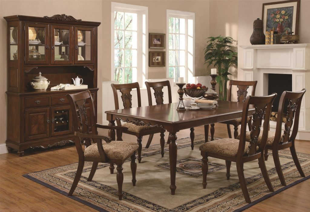 Captivating Dining Table Set Traditional 15 2150 Setd2150 Kiera