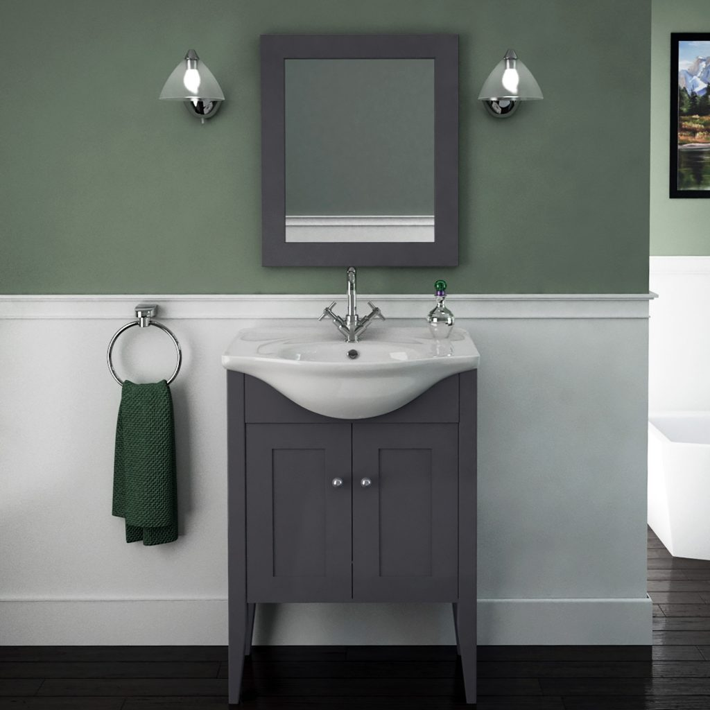 Carolla Vanity Unit And Basin Charcoal Grey Buy Online At Bathroom