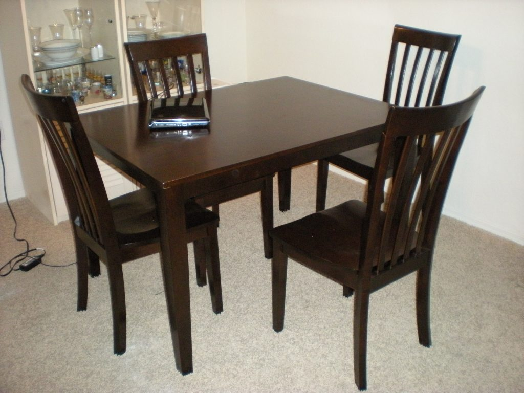Chair Black Wood Dining Table And Chairs Ciov Inside Wooden Dining