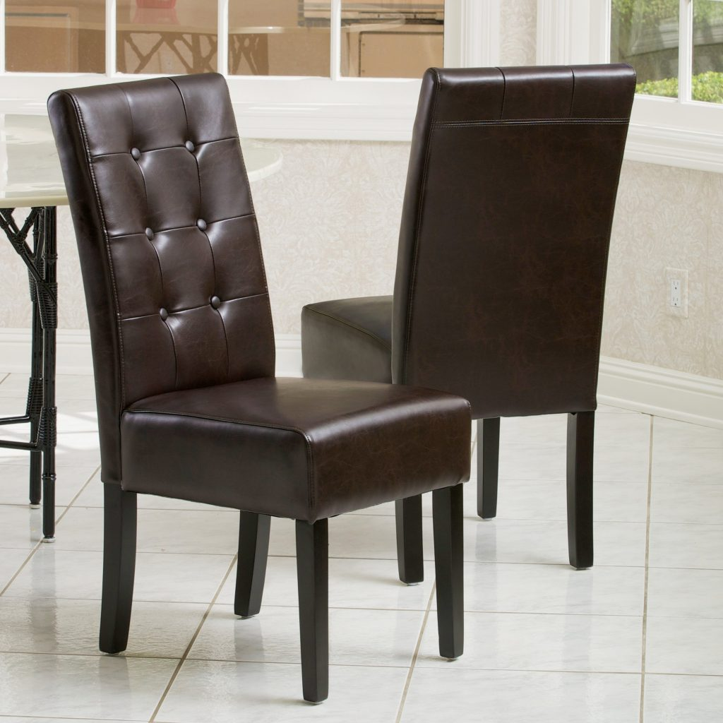Chair Brown Leather Dining Chairs Brown Leather Kitchen Chairs