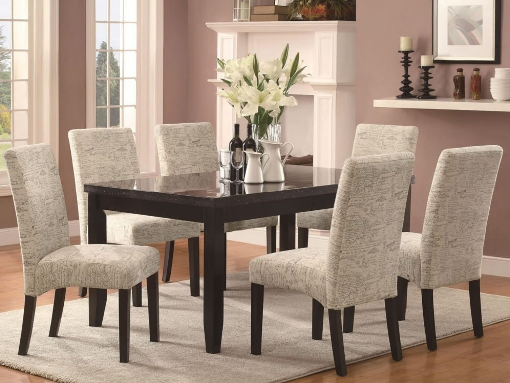 Chair Fancy Dining Room With Upholstered Chair Also Wood Table