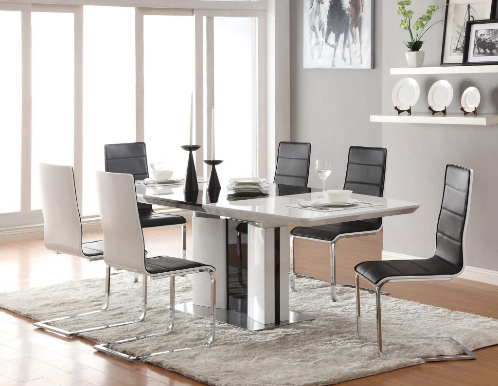 Chair Modern Italian Quia Set Dining Room Chairs Metal Frame