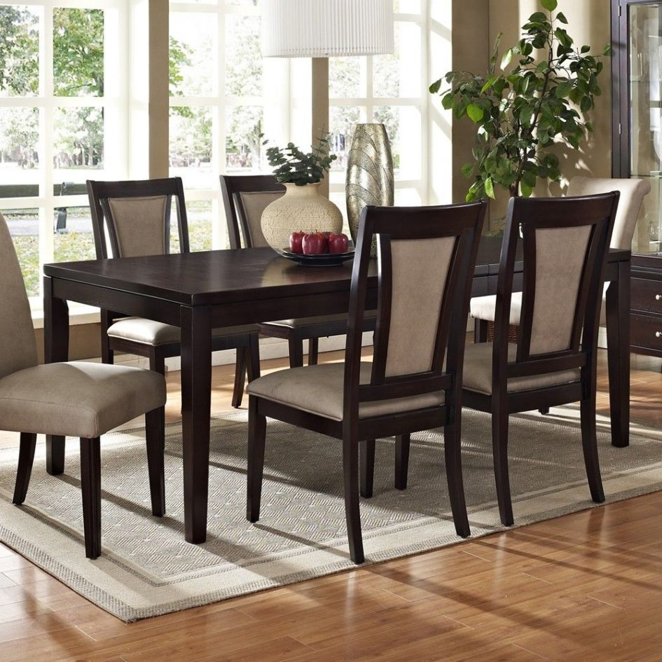 Chairs Espresso Dining Table Set At Rent A Center The Standard