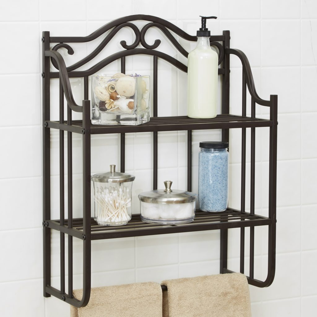 Chapter Bathroom Storage Wall Shelf Oil Rubbed Bronze Organizer