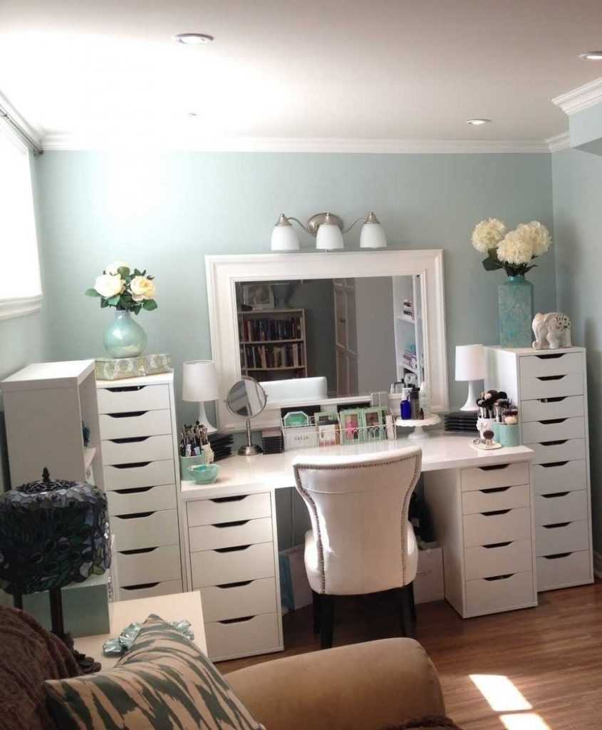 Charming Bedroom Makeup Vanity Also Diy Table Collection Ideas