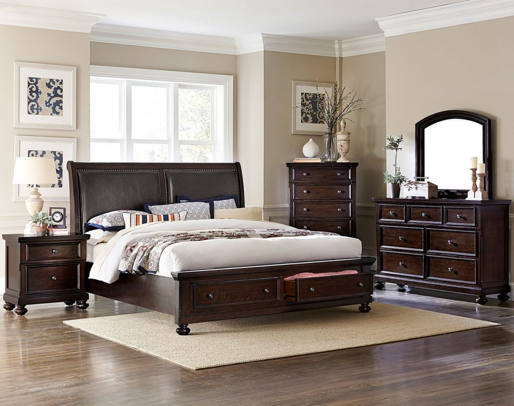 Chester King Storage Bed Cherry
