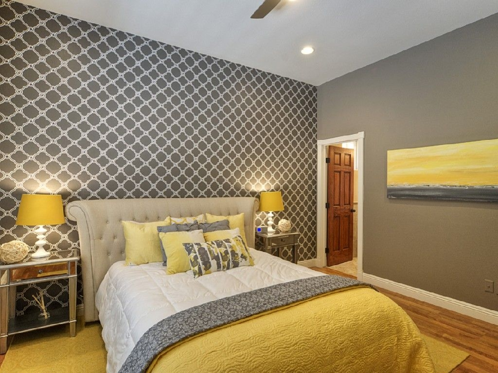 Chic Yellow And Grey Bedroom Bedroom Pinterest Gray Bedroom