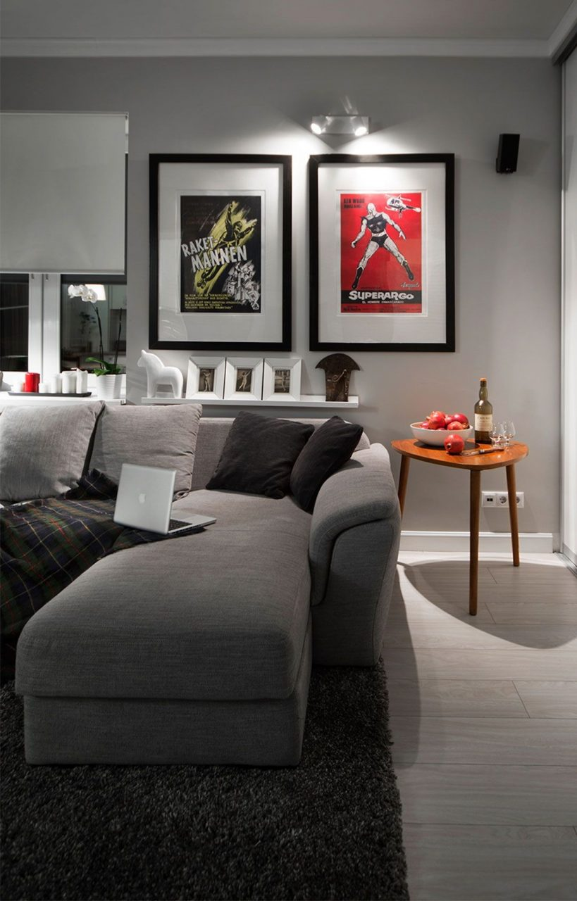 Compact Bachelor Studio With A Mix Of Modern With Retro Pinterest