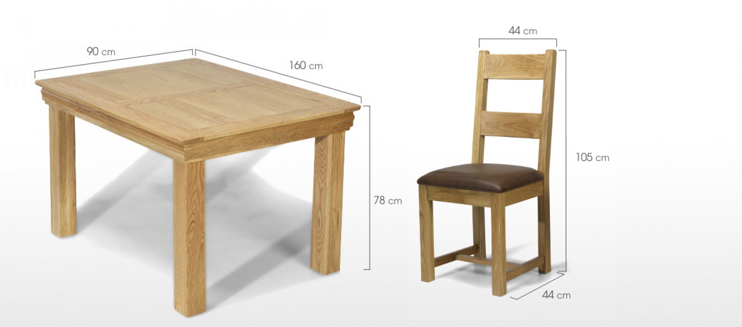 Constance Oak 125 Cm Dining Table And 4 Chairs Quercus Living Layjao