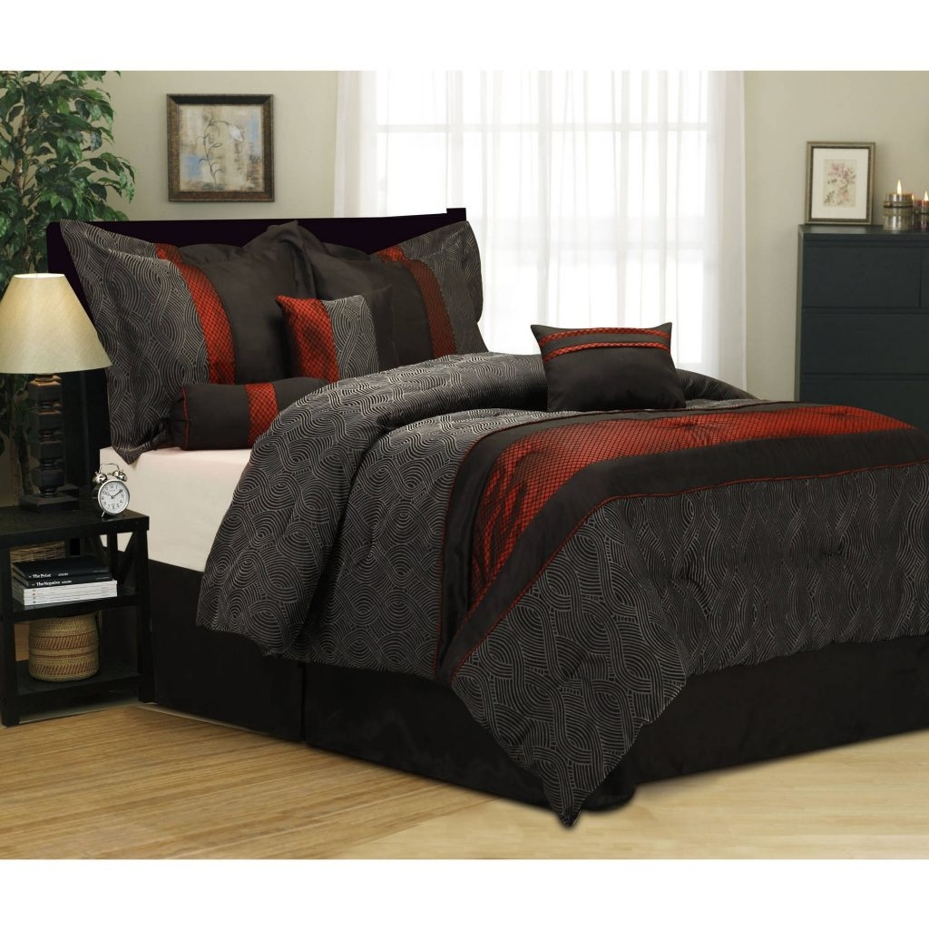 Corell Piece Bedding Comforter Set Walmart Com With Regard To King