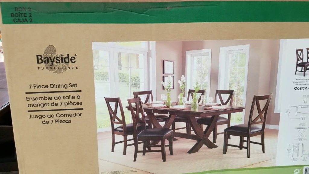 Costco 7 Piece Dinning Set 499 Youtube