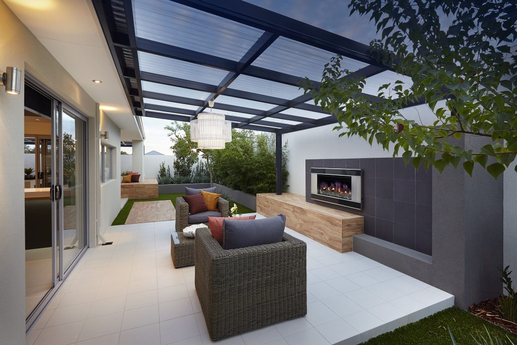 Cosy Outdoor Entertainment Area Design Seen In The Allure