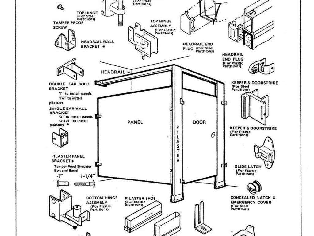 Bathroom Partition Hardware Layjao