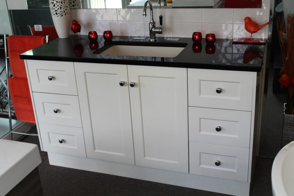 Custom 1500mm Vanity Unit With Black Granite Top Bathroom Supplies