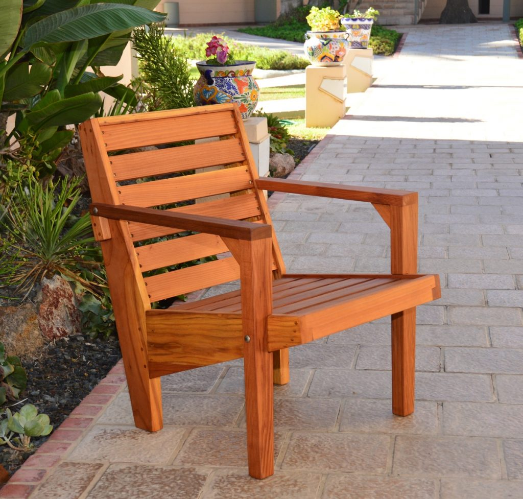 Custom Modern Redwood Chair Made In Usa Duchess Outlet