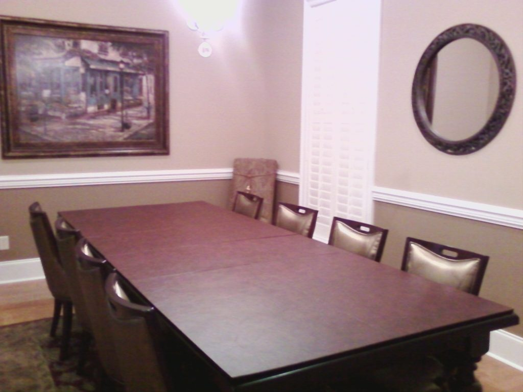 Custom Table Pads For Dining Room Tables Crafty Pic On Temporary
