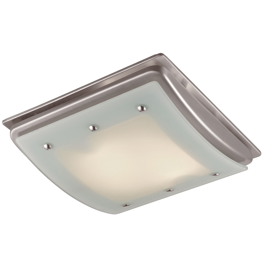 Cute Bathroom Light Fan Combo Exhaust Lighting Brushed Nickel Fans