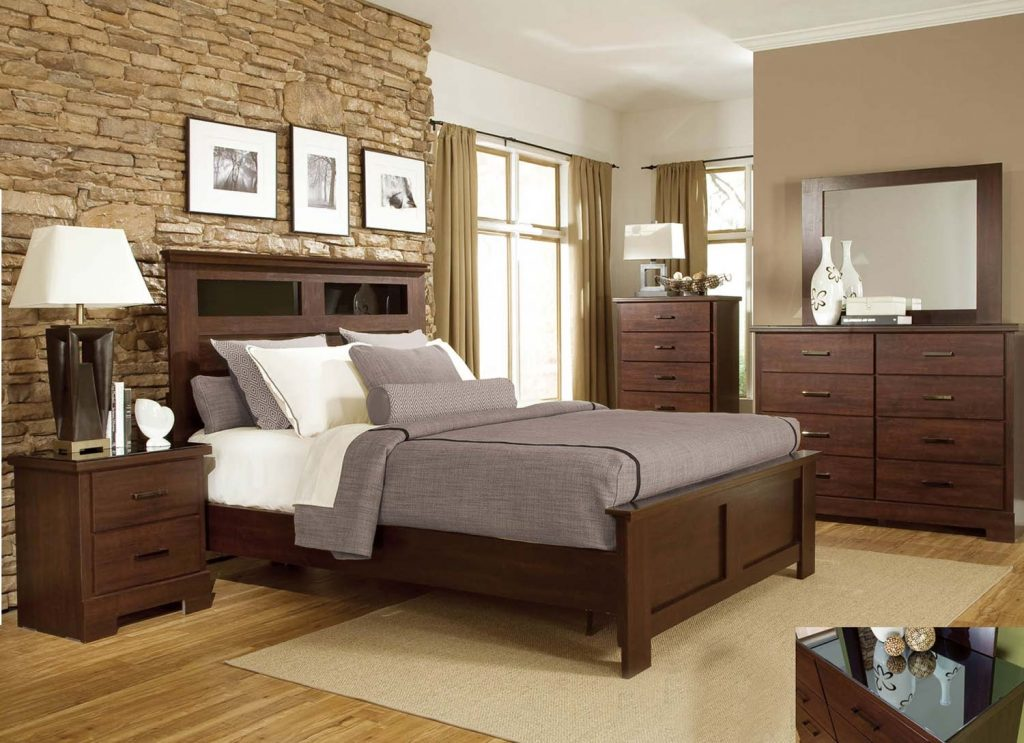 Dark Wood Bedroom Furniture Intended For A Shot Of Rich Colour To