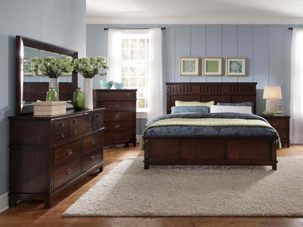 Decorating Dark Grey Wood Bedroom Furniture White And Light Wood